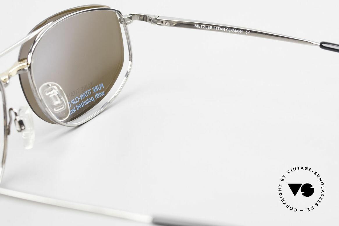 Metzler 1715 Titanbrille 90er Polarisierend, Größe: large, Passend für Herren