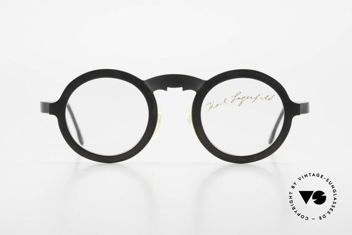 Karl Lagerfeld 4501 Runde Panto Designerbrille, vintage Panto-Designerbrille von Karl Lagerfeld, Passend für Herren und Damen