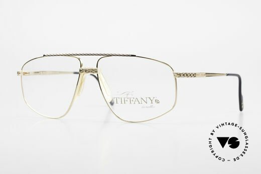 Tiffany T89 23kt Gold Plated Aviator Brille Details