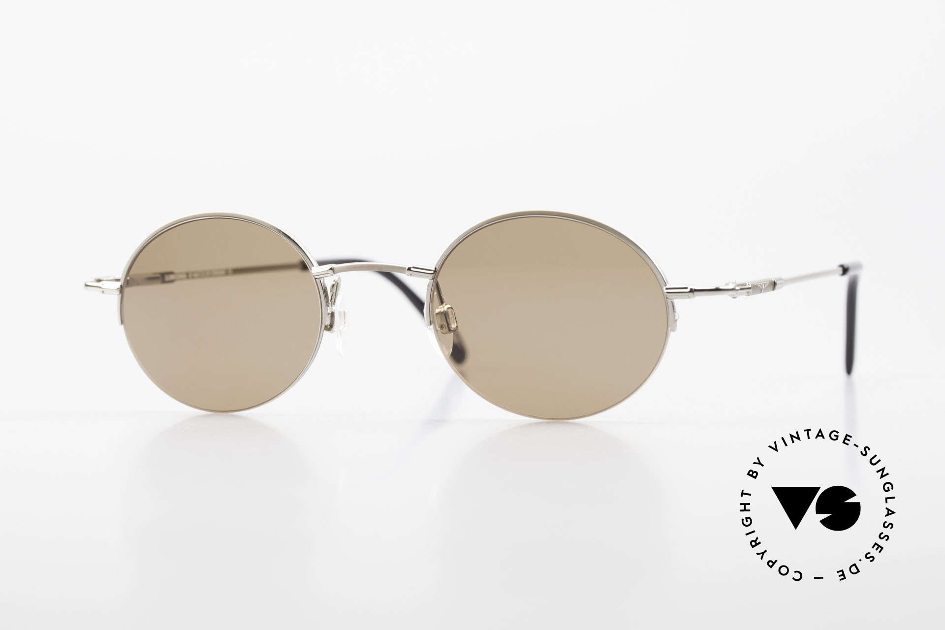 Longines 4363 Ovale Sonnenbrille 90er Rund, rund-ovale Longines Sonnenbrille aus den 90er Jahren, Passend für Herren und Damen