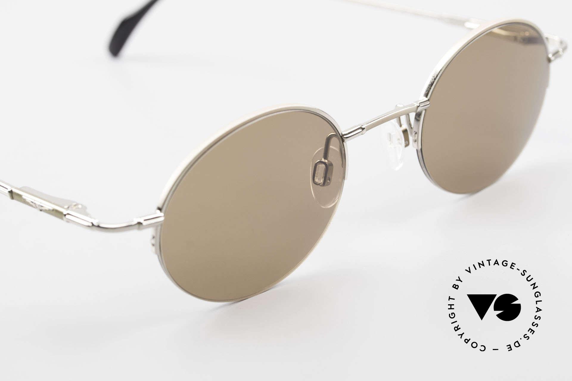 Longines 4363 Ovale Sonnenbrille 90er Rund, ungetragen (wie alle unsere ovalen 90er Sonnenbrillen), Passend für Herren und Damen