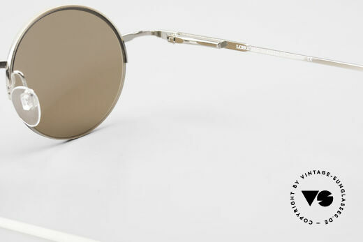 Longines 4363 Ovale Sonnenbrille 90er Rund, Größe: medium, Passend für Herren und Damen