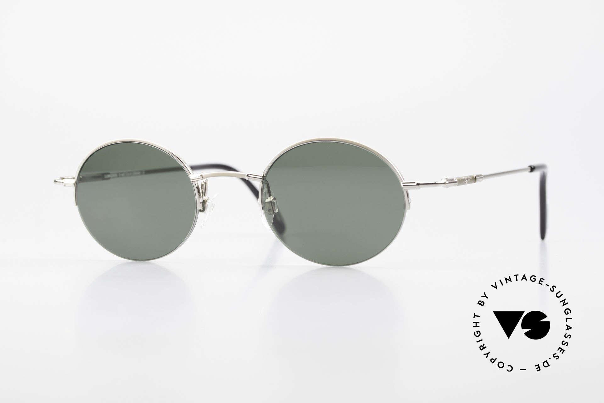 Longines 4363 Rund Ovale Sonnenbrille 90er, rund-ovale Longines Sonnenbrille aus den 90er Jahren, Passend für Herren und Damen