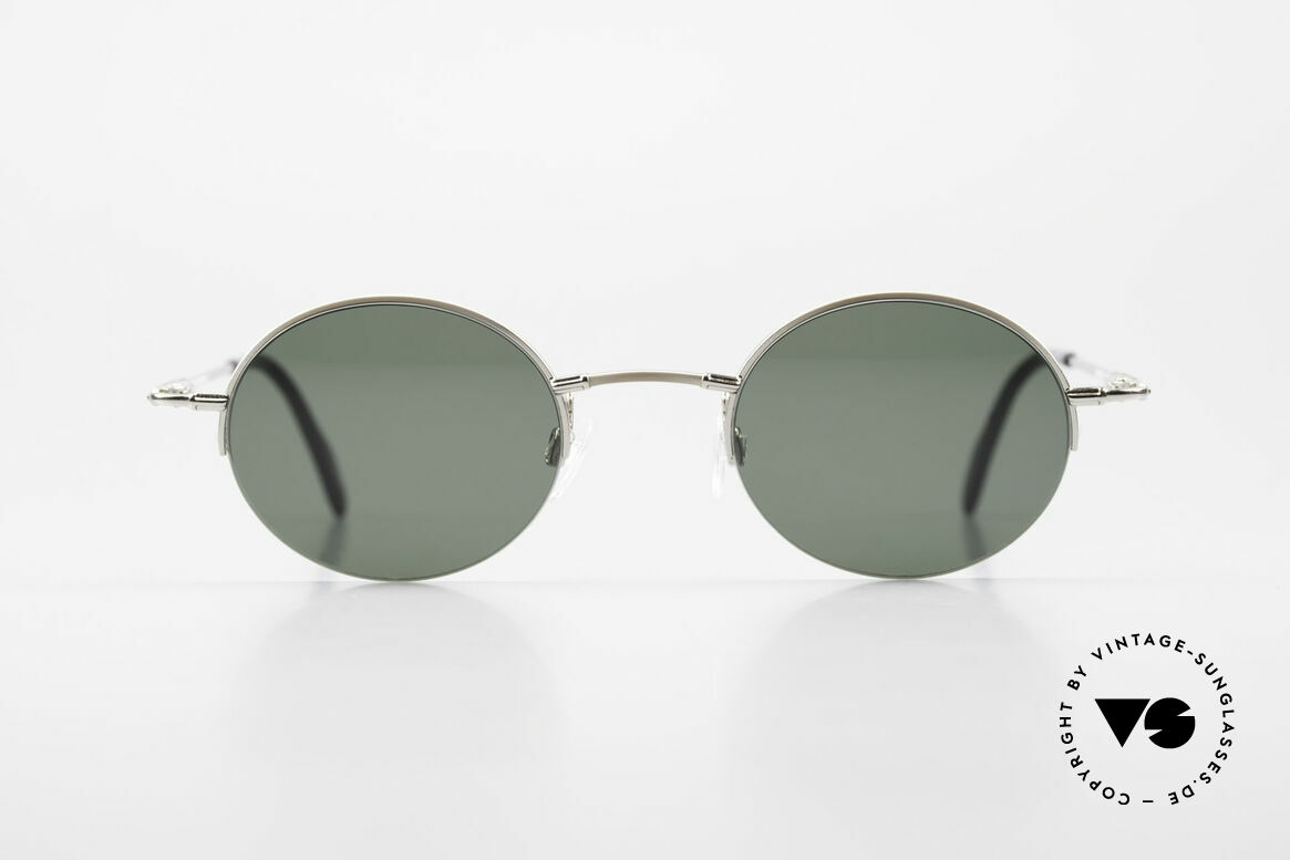 Longines 4363 Rund Ovale Sonnenbrille 90er, Nylor-Qualitätsfassung mit vielen kleinen Designdetails, Passend für Herren und Damen