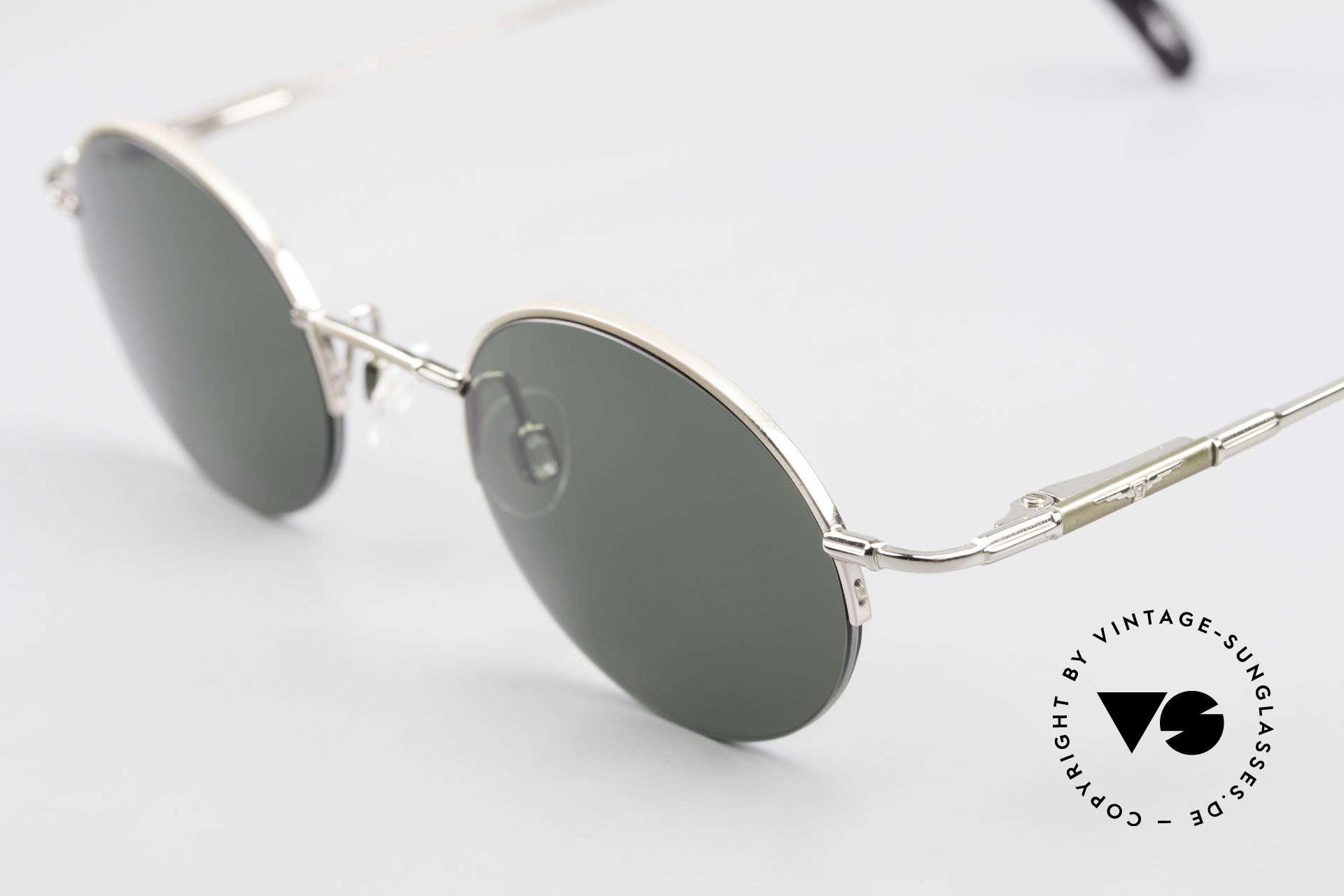 Longines 4363 Rund Ovale Sonnenbrille 90er, ein zeitloses altes Original in Kooperation mit Metzler, Passend für Herren und Damen