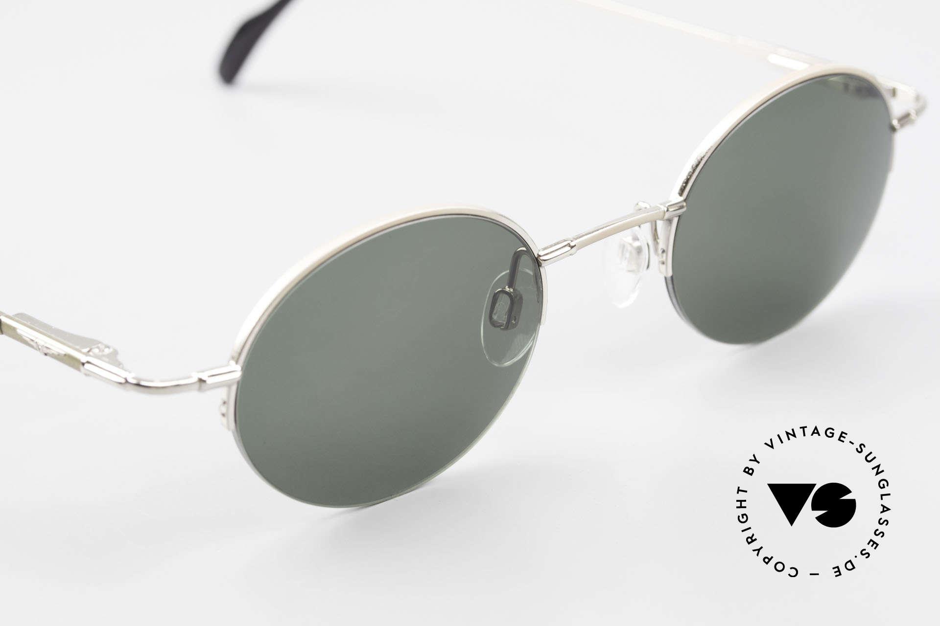 Longines 4363 Rund Ovale Sonnenbrille 90er, ungetragen (wie alle unsere ovalen 90er Sonnenbrillen), Passend für Herren und Damen