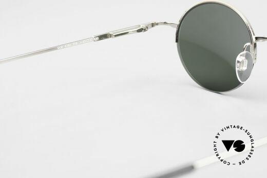 Longines 4363 Rund Ovale Sonnenbrille 90er, Sonnengläser (100% UV) können ggf. getauscht werden, Passend für Herren und Damen