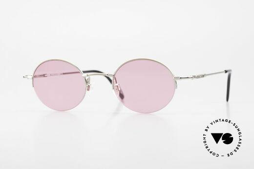 Longines 4363 Pinke Sonnenbrille 90er Oval Details