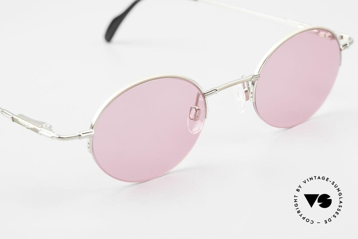Longines 4363 Pinke Sonnenbrille 90er Oval, ungetragen (wie alle unsere ovalen 90er Sonnenbrillen), Passend für Herren und Damen
