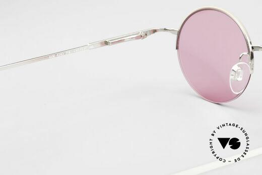 Longines 4363 Pinke Sonnenbrille 90er Oval, Sonnengläser (100% UV) können ggf. getauscht werden, Passend für Herren und Damen