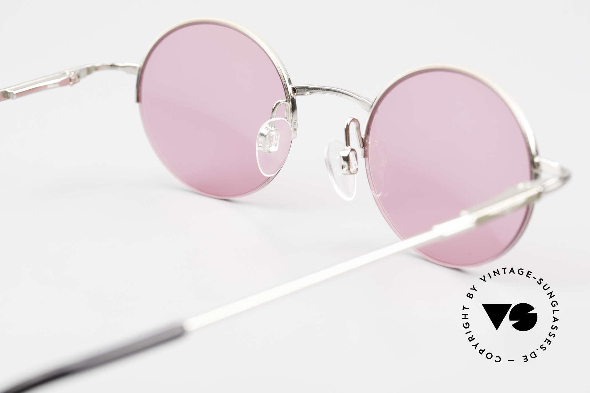 Longines 4363 Pinke Sonnenbrille 90er Oval, Größe: medium, Passend für Herren und Damen