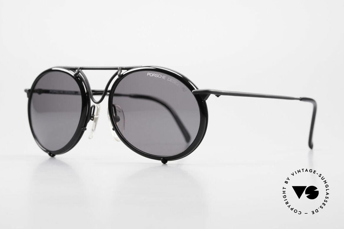 Porsche 5661 Echte 90er Sonnenbrille Rund, hoher Tragekomfort & Top-Qualität (100% UV Schutz), Passend für Herren und Damen