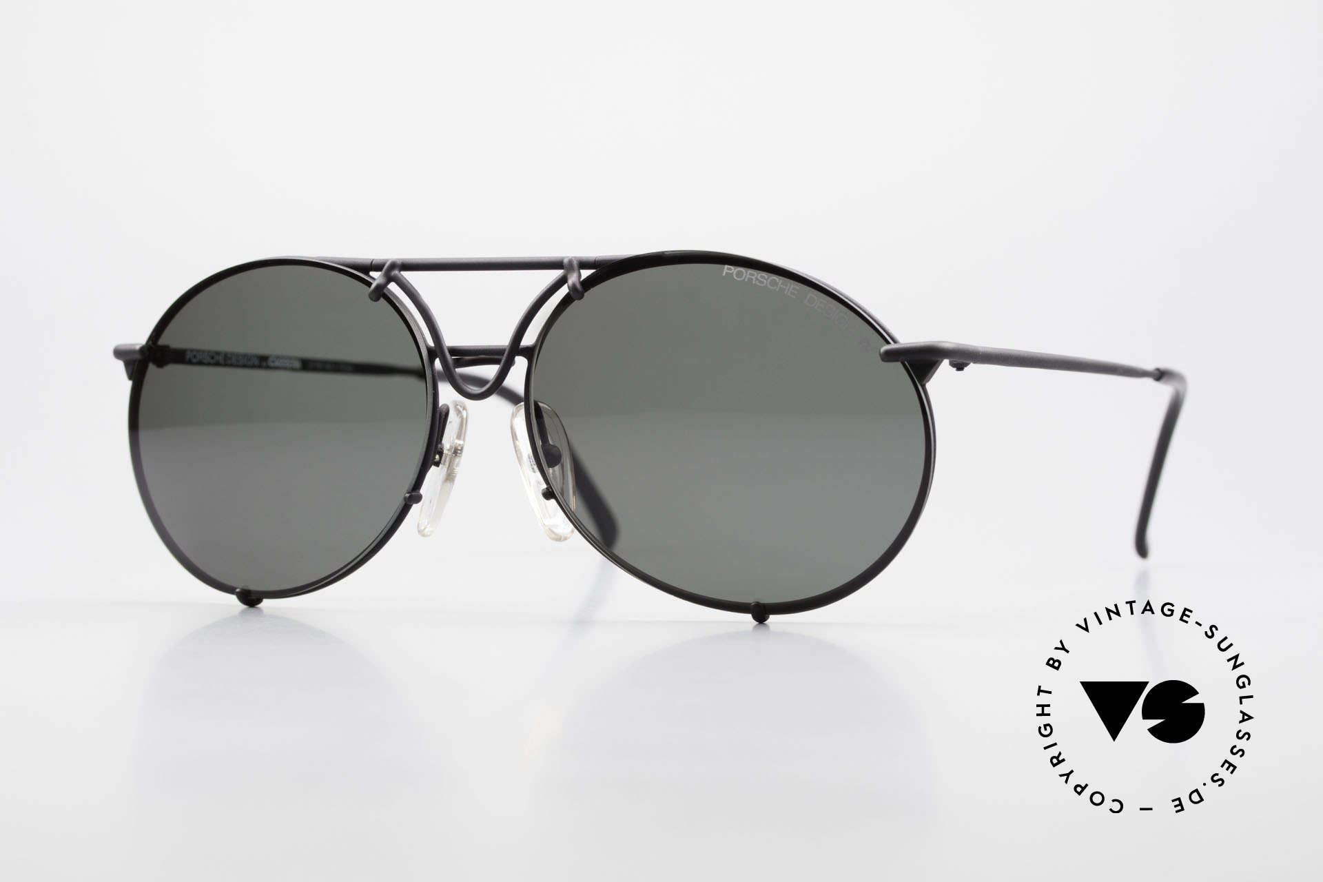 Porsche 5661 Echte 90er Sonnenbrille Rund, ungetragen mit zwei unterschiedlichen Wechselgläsern, Passend für Herren und Damen
