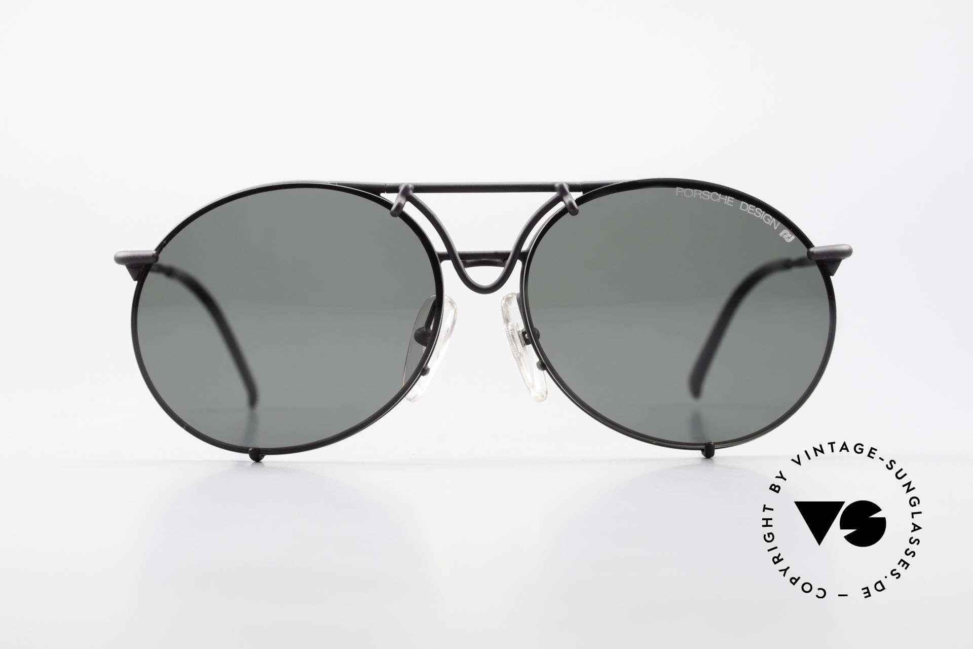 Porsche 5661 Echte 90er Sonnenbrille Rund, KEINE Retrobrille, sondern das alte Original von 1992, Passend für Herren und Damen