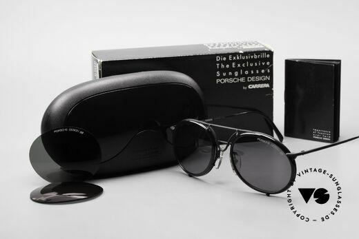 Porsche 5661 Echte 90er Sonnenbrille Rund, die Sonnengläser können durch optische ersetzt werden, Passend für Herren und Damen