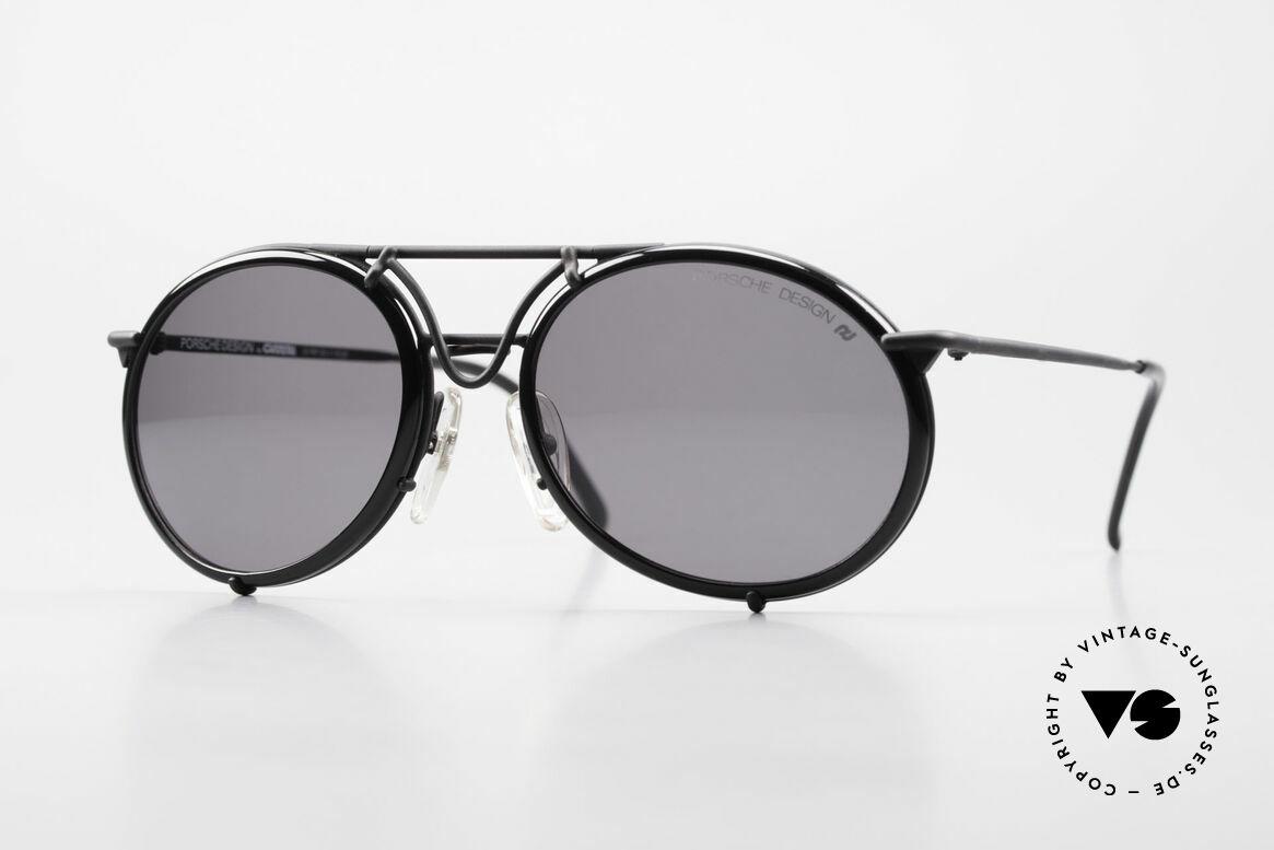 Porsche 5661 Echte 90er Sonnenbrille Rund, Modell 5661 in großer Ausführung (Größe 54-16, 140), Passend für Herren und Damen