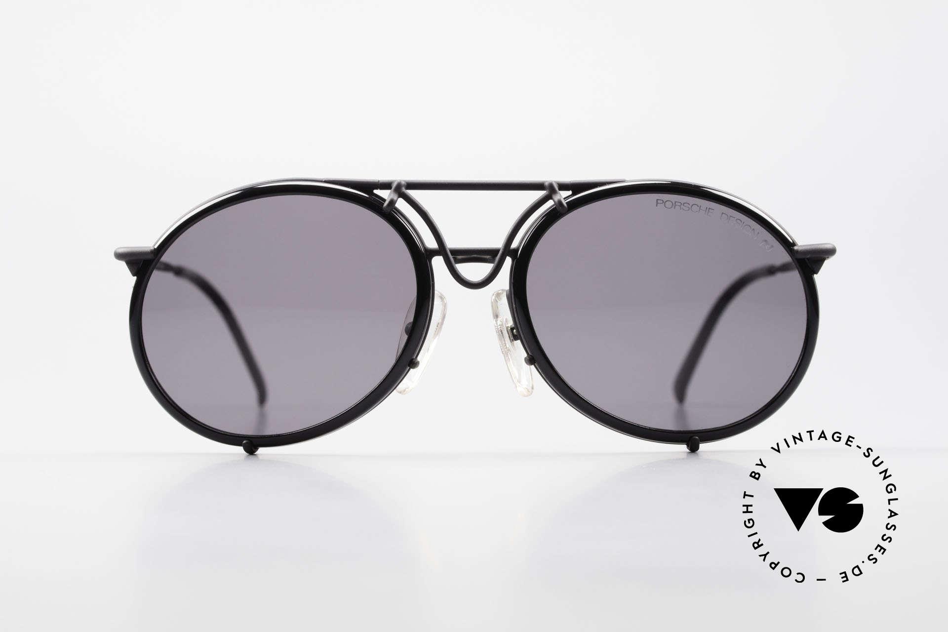 Porsche 5661 Echte 90er Sonnenbrille Rund, sportlich-klassische Sonnenbrille von Porsche Design, Passend für Herren und Damen