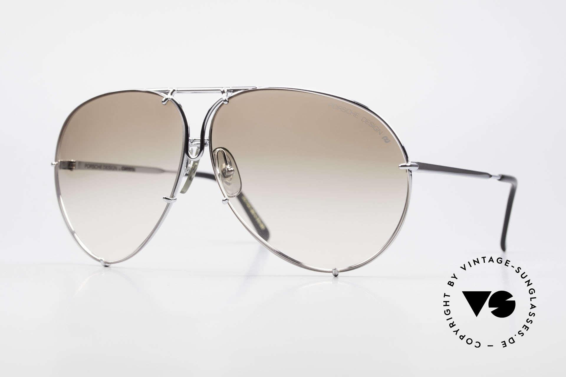 Porsche 5621 80er Brillenklassiker Herren, alte 80er Porsche Sonnenbrille mit Wechselgläsern, Passend für Herren