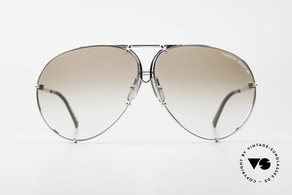 Porsche 5621 80er Brillenklassiker Herren, ein echter Sonnenbrillen-Klassiker in chrome-silber, Passend für Herren