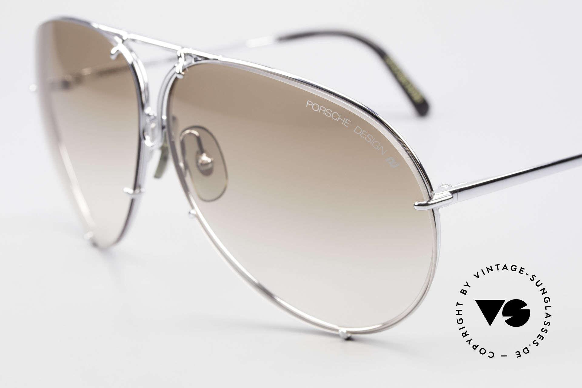 Porsche 5621 80er Brillenklassiker Herren, legendäre Bestseller-Sonnenbrille aus den 1980ern, Passend für Herren