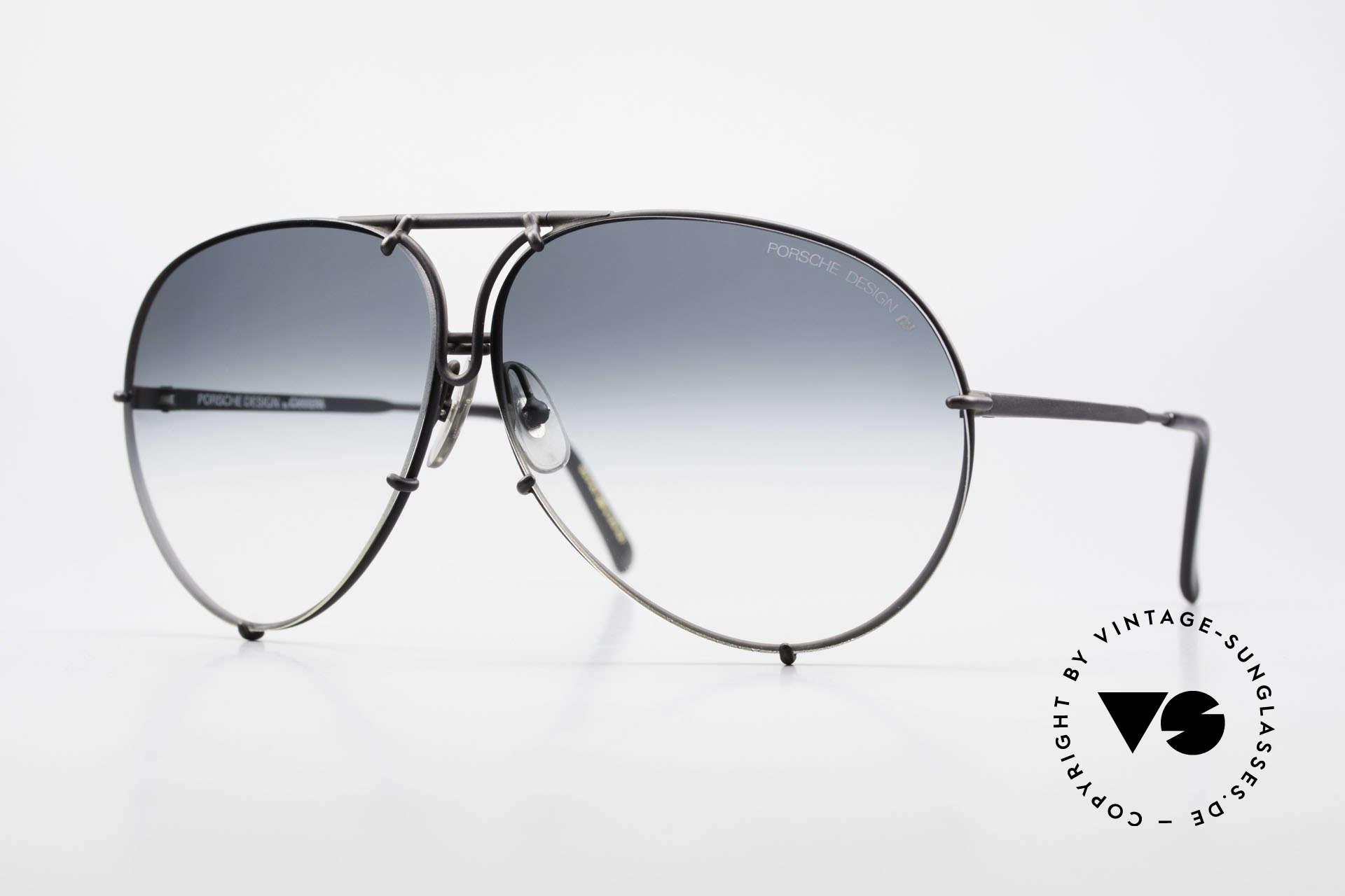 Porsche 5621 Alte 80er Aviator Sonnenbrille, alte 80er Porsche Sonnenbrille mit Wechselgläsern, Passend für Herren