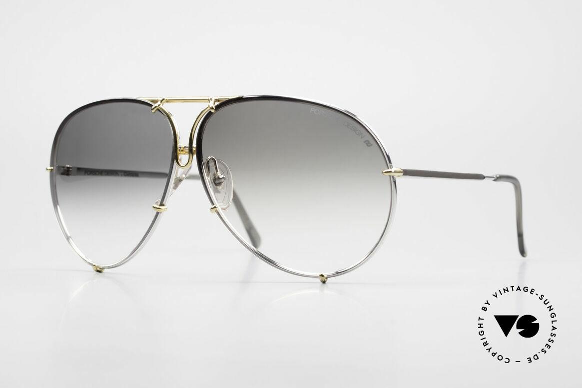 Porsche 5621 1980er Sonnenbrille Bicolor, alte 80er Porsche Sonnenbrille mit Wechselgläsern, Passend für Herren