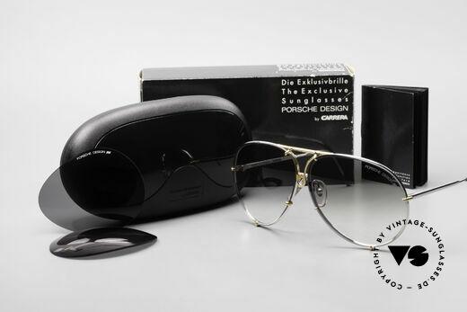 Porsche 5621 1980er Sonnenbrille Bicolor, Modell 5621: 80er LARGE Größe = heute eher Gr. XL, Passend für Herren