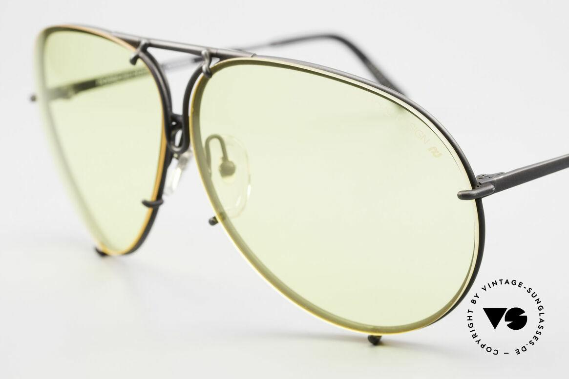Porsche 5621 Gelbe Gläser Kalichrome 80er, Gläser verstärken (Rest)Licht und erhöhen Kontraste, Passend für Herren