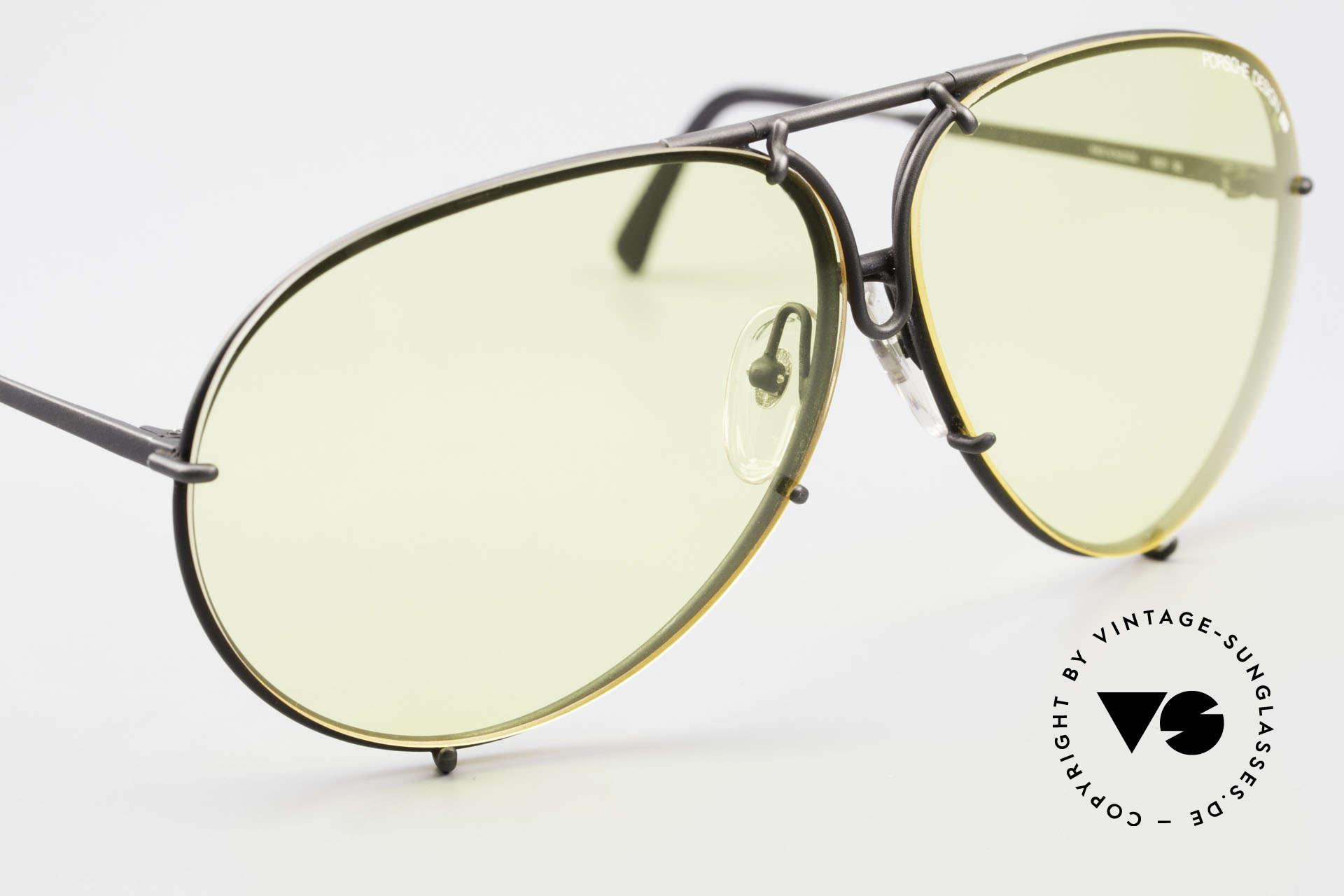 Porsche 5621 Gelbe Gläser Kalichrome 80er, ungetragene 80er Rarität und KEINE RETRO-Brille!, Passend für Herren