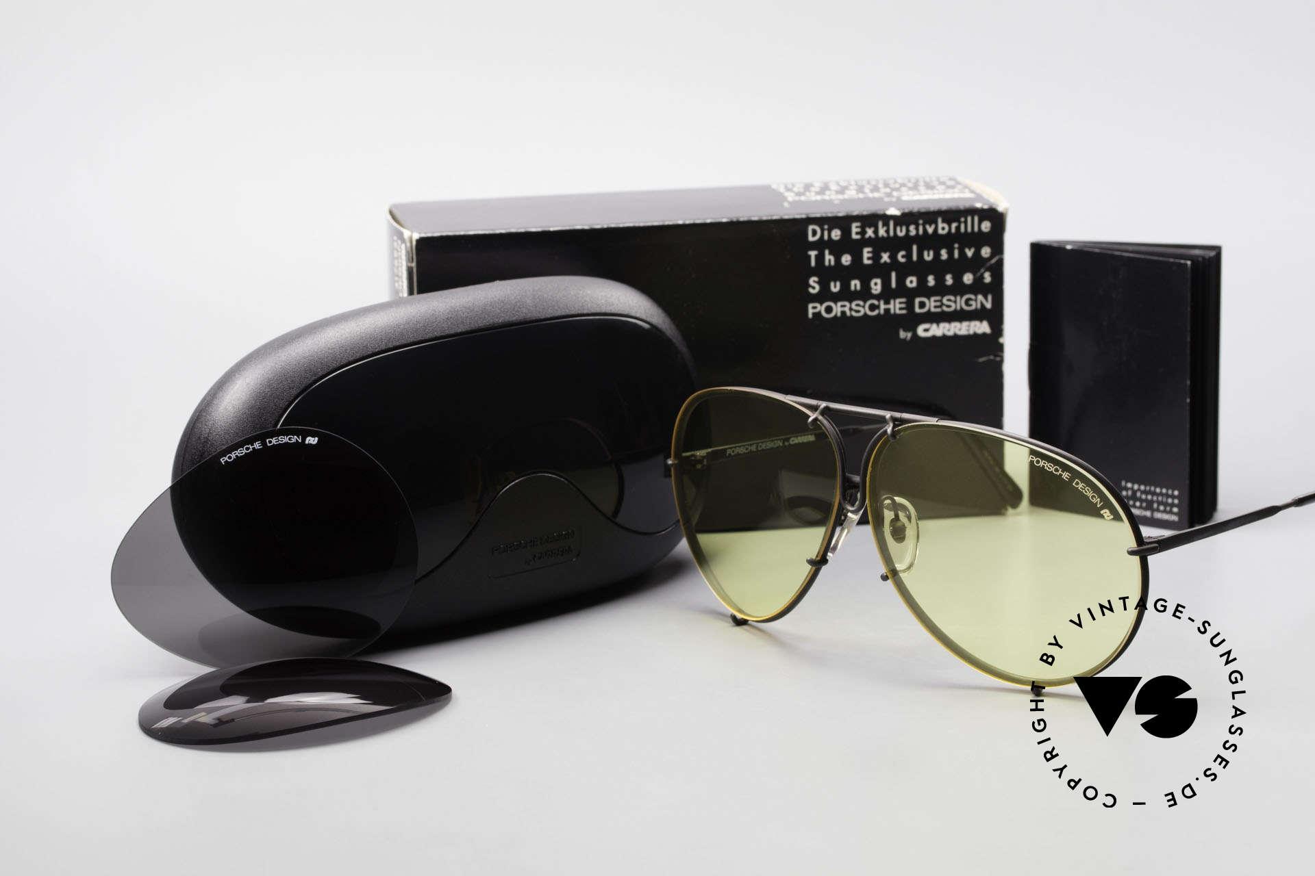 Porsche 5621 Gelbe Gläser Kalichrome 80er, Modell 5621: 80er LARGE Größe = heute eher Gr. XL, Passend für Herren