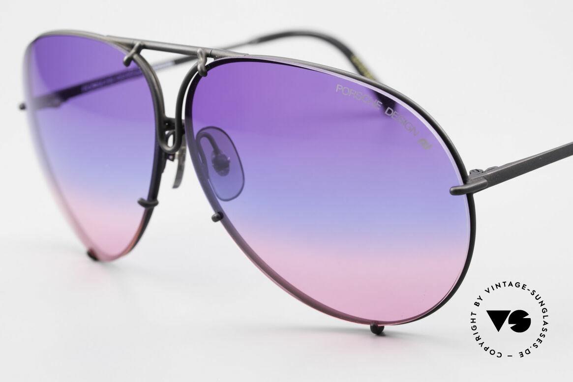 Porsche 5621 Tricolor Limited Edition 80er, eine echte Bestseller-Sonnenbrille aus den 1980ern, Passend für Herren