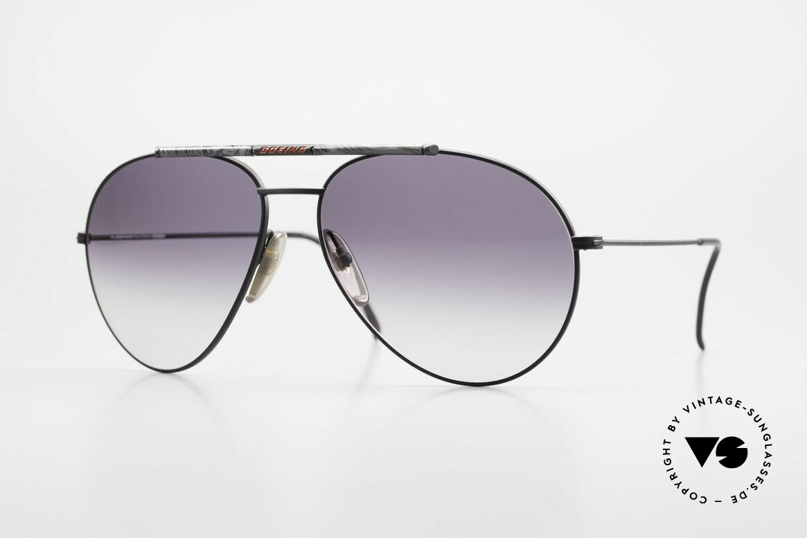 Boeing 5706 80er Aviator Sonnenbrille XL, die legendäre 'The BOEING Collection by Carrera', Passend für Herren