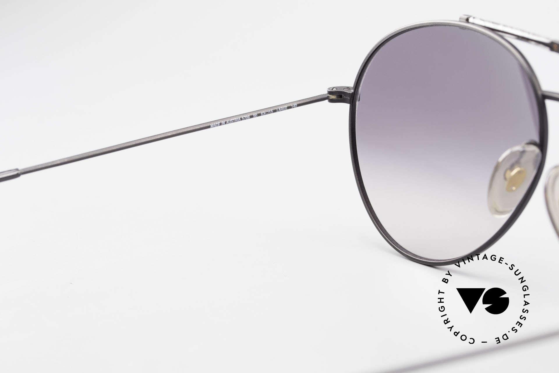 Boeing 5706 80er Aviator Sonnenbrille XL, ungetragen (wie alle unsere vintage Boeing Brillen), Passend für Herren