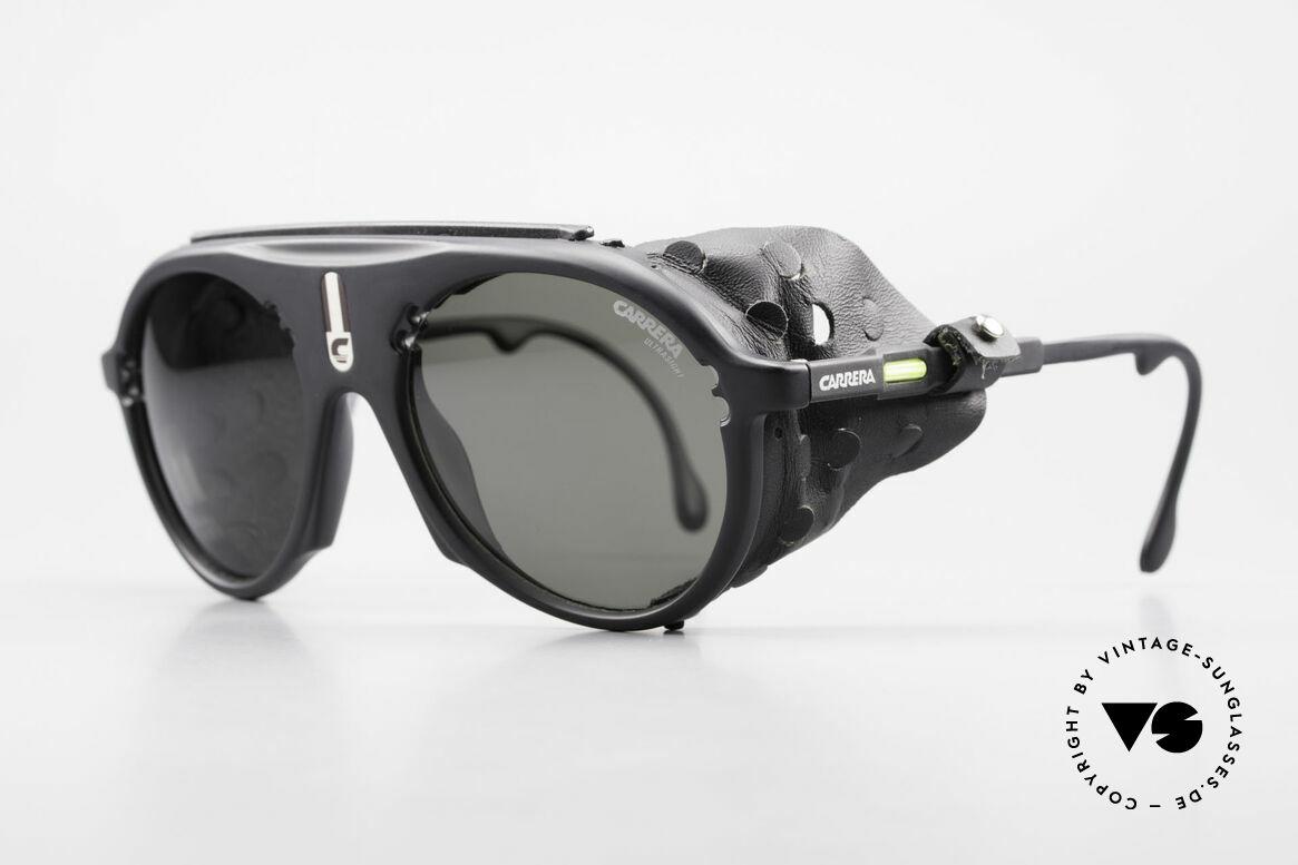 Carrera 5436 Gletscher Brille Water & Ice, der Nasenschutz & die Seitenblenden sind abnehmbar, Passend für Herren