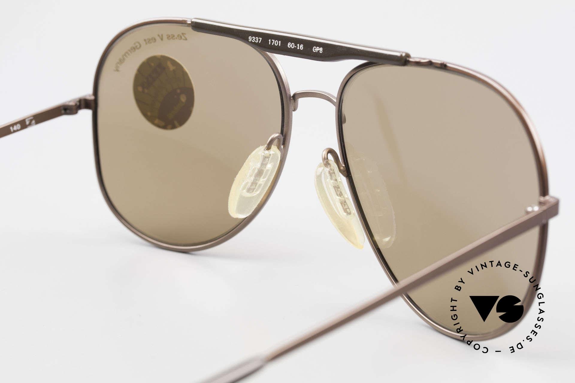 Zeiss 9337 Zurück in die Zukunft Brille, die Metallfassung könnte auch optisch verglast werden, Passend für Herren