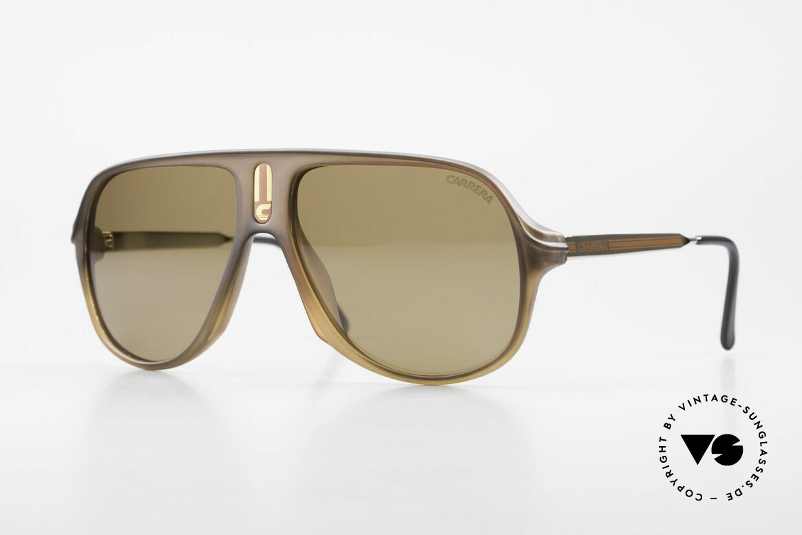 Carrera 5547 Polarisierende Sonnenbrille, sehr seltene Carrera vintage Sonnenbrille von 1986, Passend für Herren