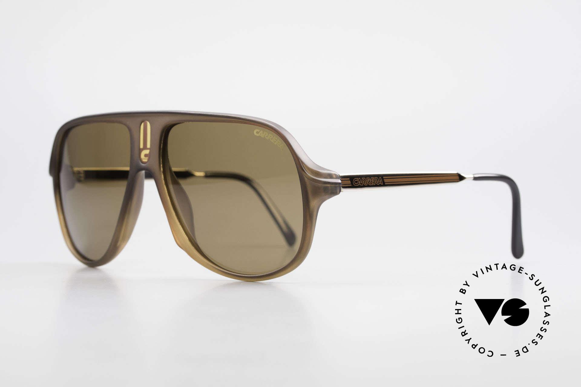 Carrera 5547 Polarisierende Sonnenbrille, braune, POLARISIERENDE Gläser, 100% UV Schutz, Passend für Herren