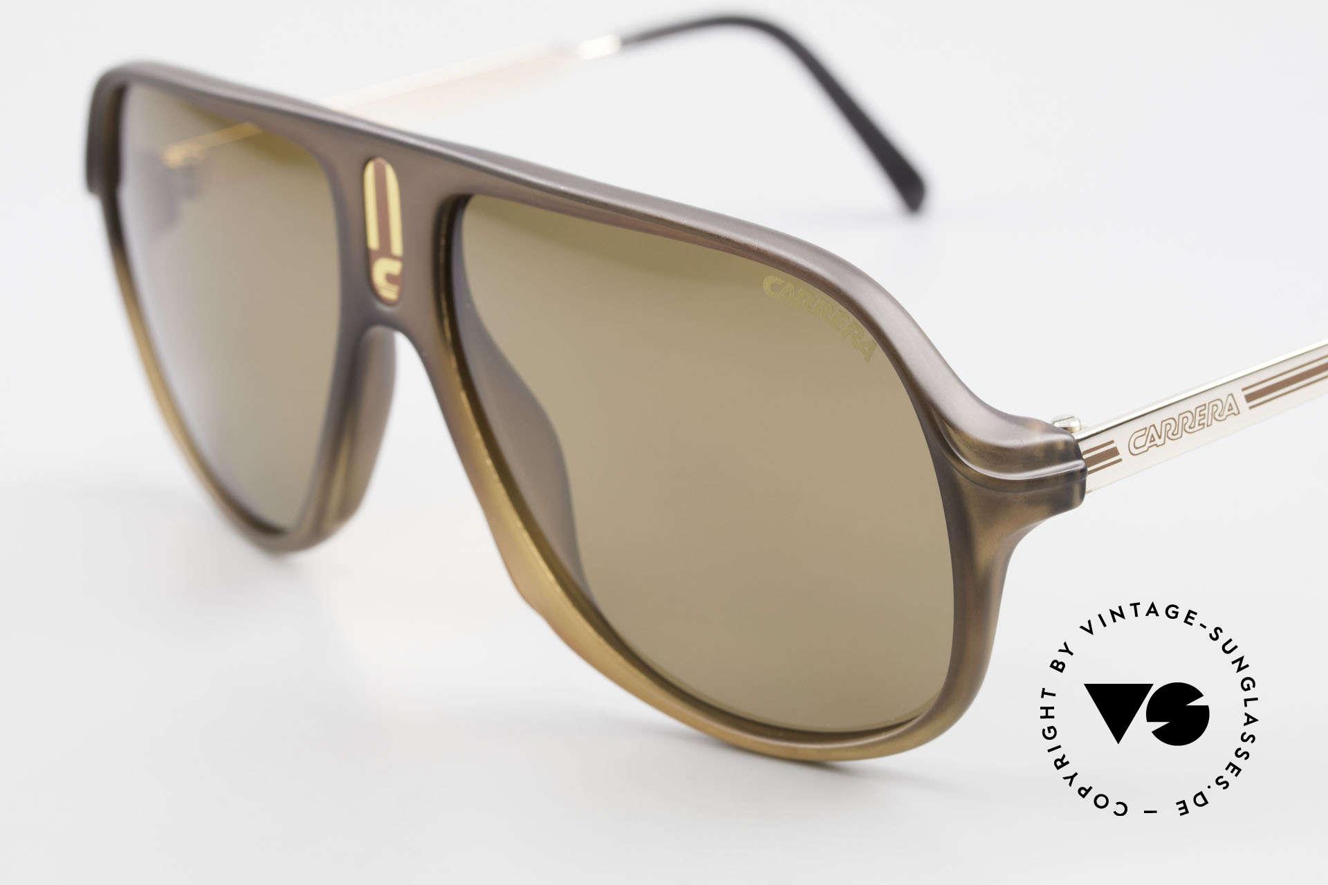 Carrera 5547 Polarisierende Sonnenbrille, Herren-Modell in 145mm Breite (XL vintage Brille), Passend für Herren