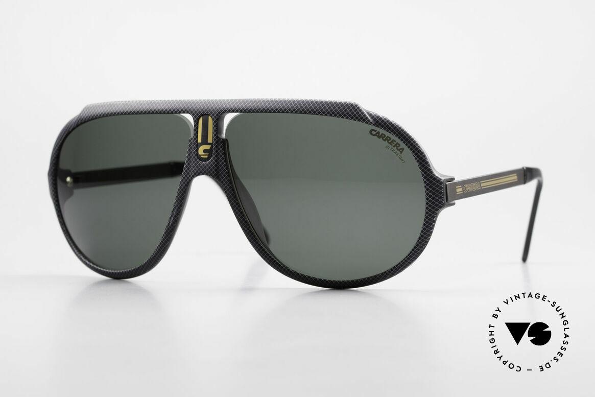 Carrera 5512 80er Kult Brille Miami Vice, legendäre Carrera vintage Sonnenbrille in Top-Qualität, Passend für Herren