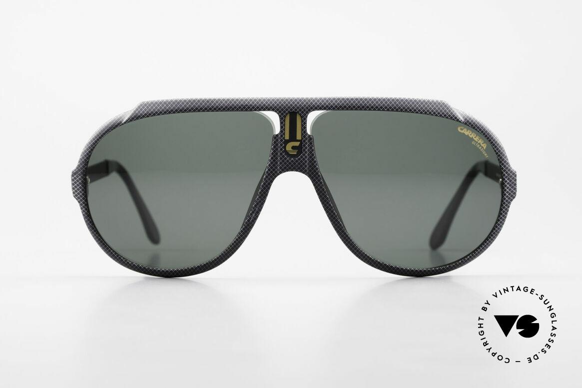 Carrera 5512 80er Kult Brille Miami Vice, berühmte Filmsonnenbrille von 1984 (echter Klassiker), Passend für Herren