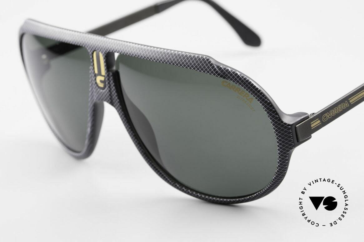 Carrera 5512 80er Kult Brille Miami Vice, interessantes Rahmenmuster mit Gitter-Effekt; unique!, Passend für Herren