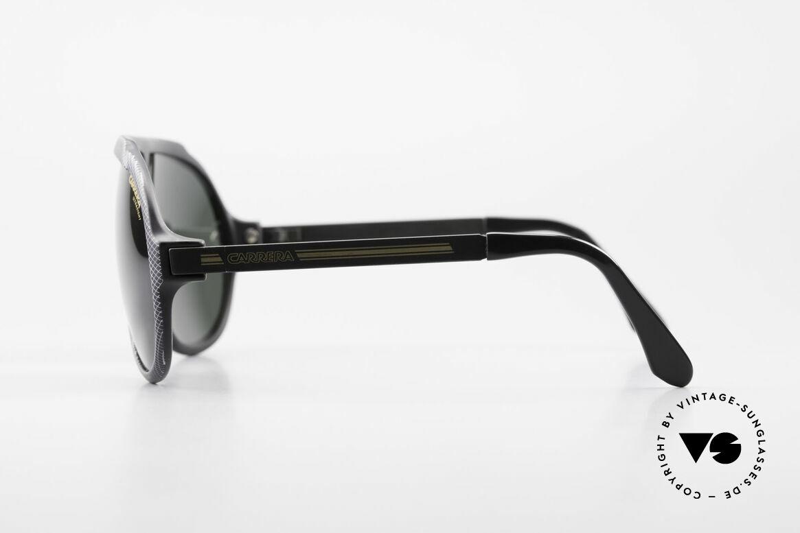 Carrera 5512 80er Kult Brille Miami Vice, ungetragen mit dunkelgrünen Carrera Ultrasight Gläsern, Passend für Herren