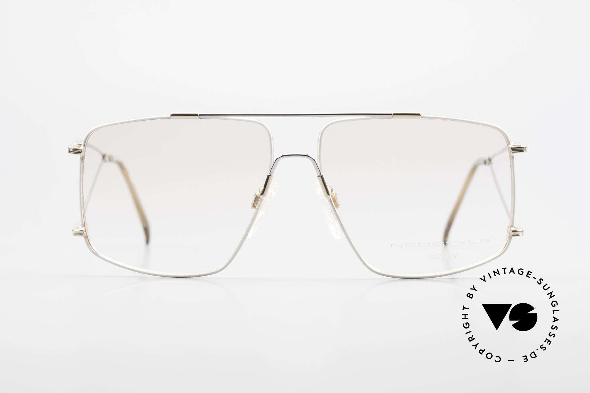 Neostyle Jet 40 Titanflex Vintage 90er Brille, enormer Tragekomfort, dank TITAN-FLEX Material!, Passend für Herren