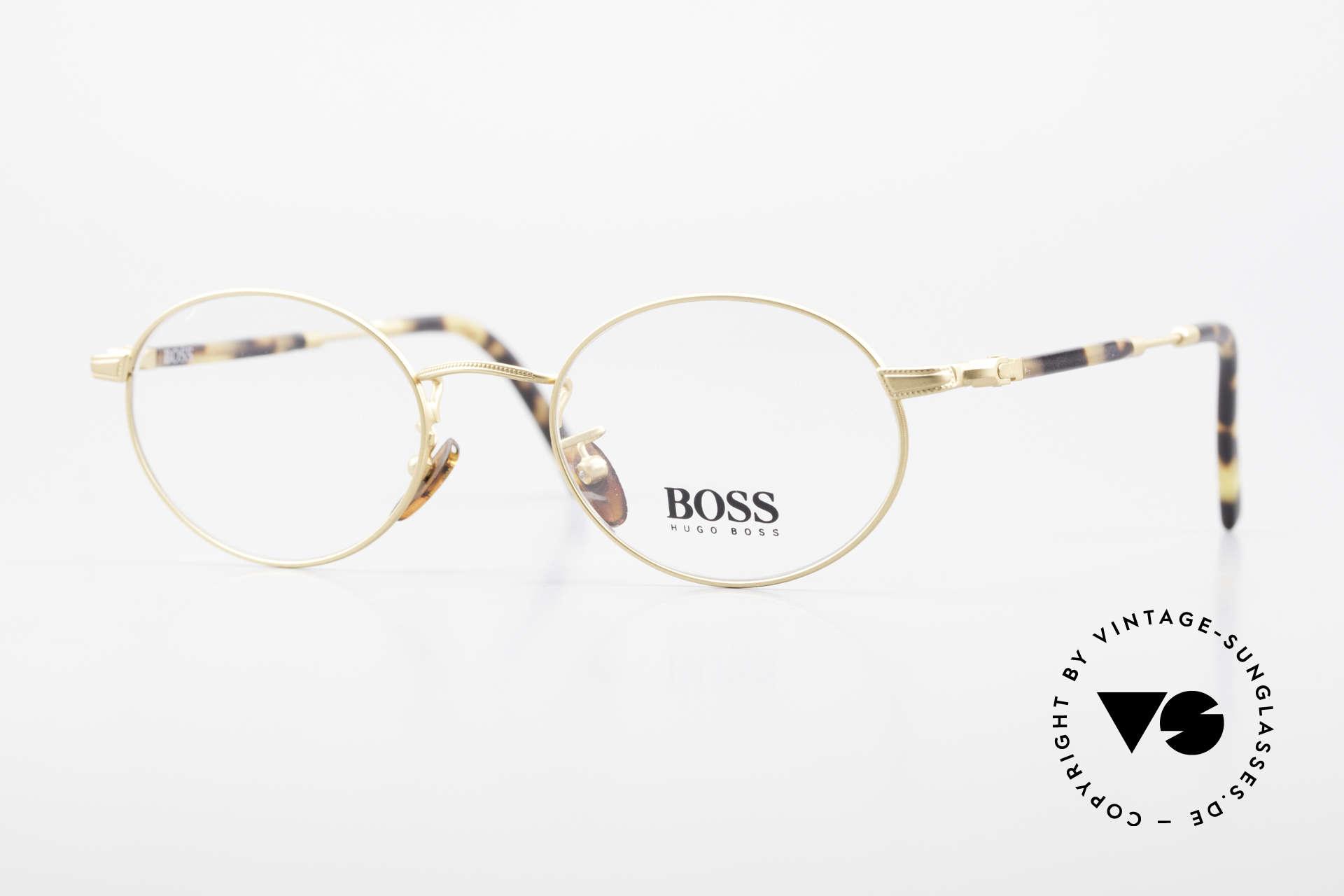 BOSS 5139 Ovale Panto Style Fassung, klassische vintage Designer-Fassung von Hugo BOSS, Passend für Herren und Damen