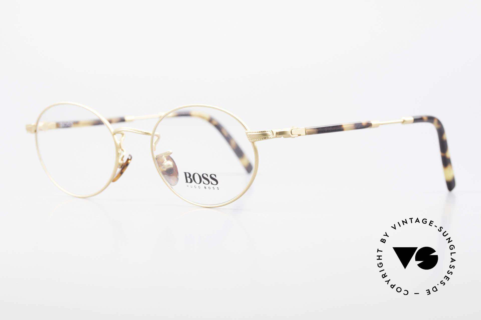 BOSS 5139 Ovale Panto Style Fassung, sehr elegante Farbkombination: schildpatt / mattgold, Passend für Herren und Damen