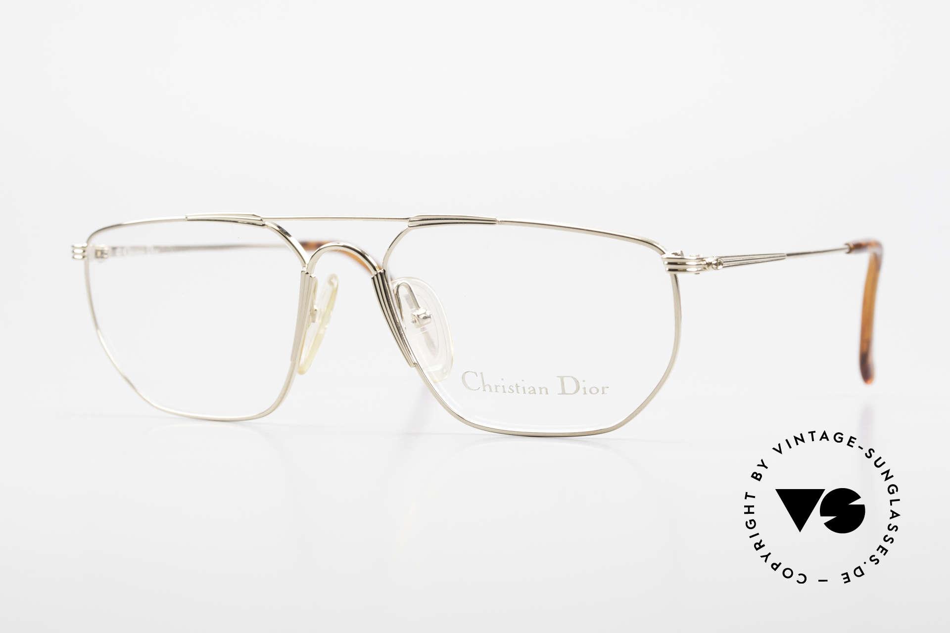 Christian Dior 2819 Echte 90er Herren Metallbrille, klassische 90er Gentlemen-Brille von Christian Dior, Passend für Herren