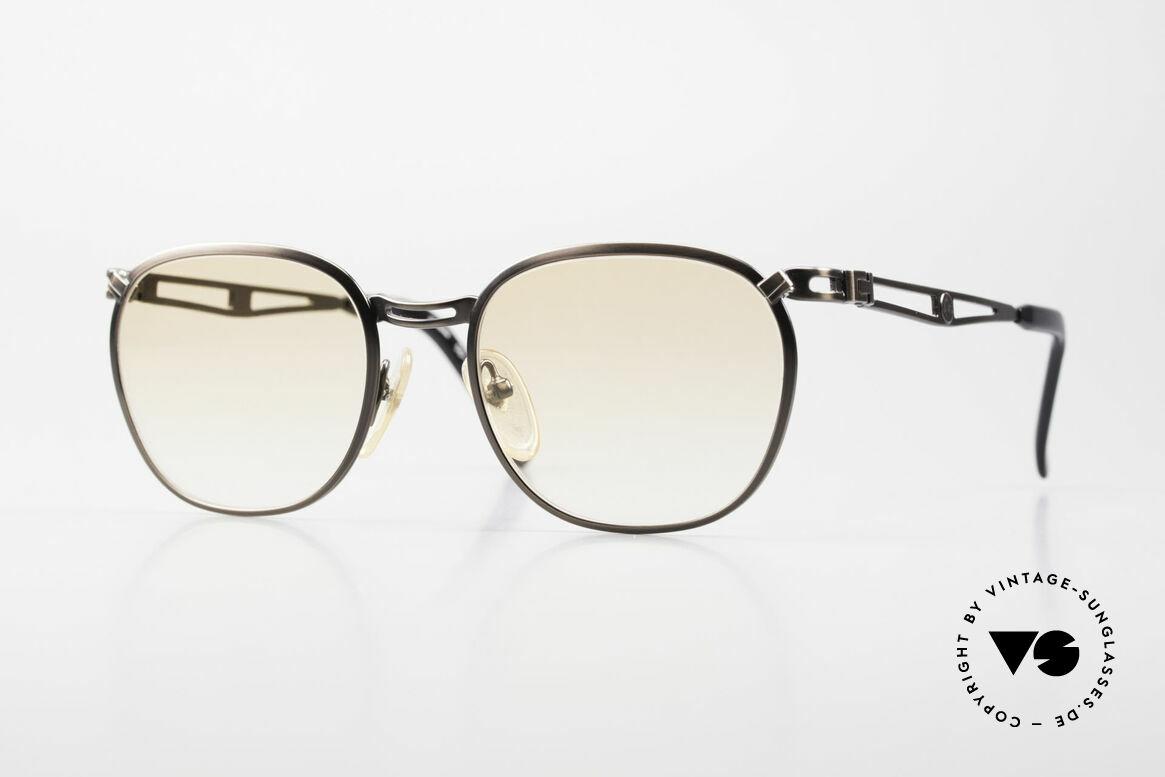 Jean Paul Gaultier 56-2177 Orange Gläser für den Abend, 90er Jahre Jean Paul GAULTIER Designersonnenbrille, Passend für Herren und Damen