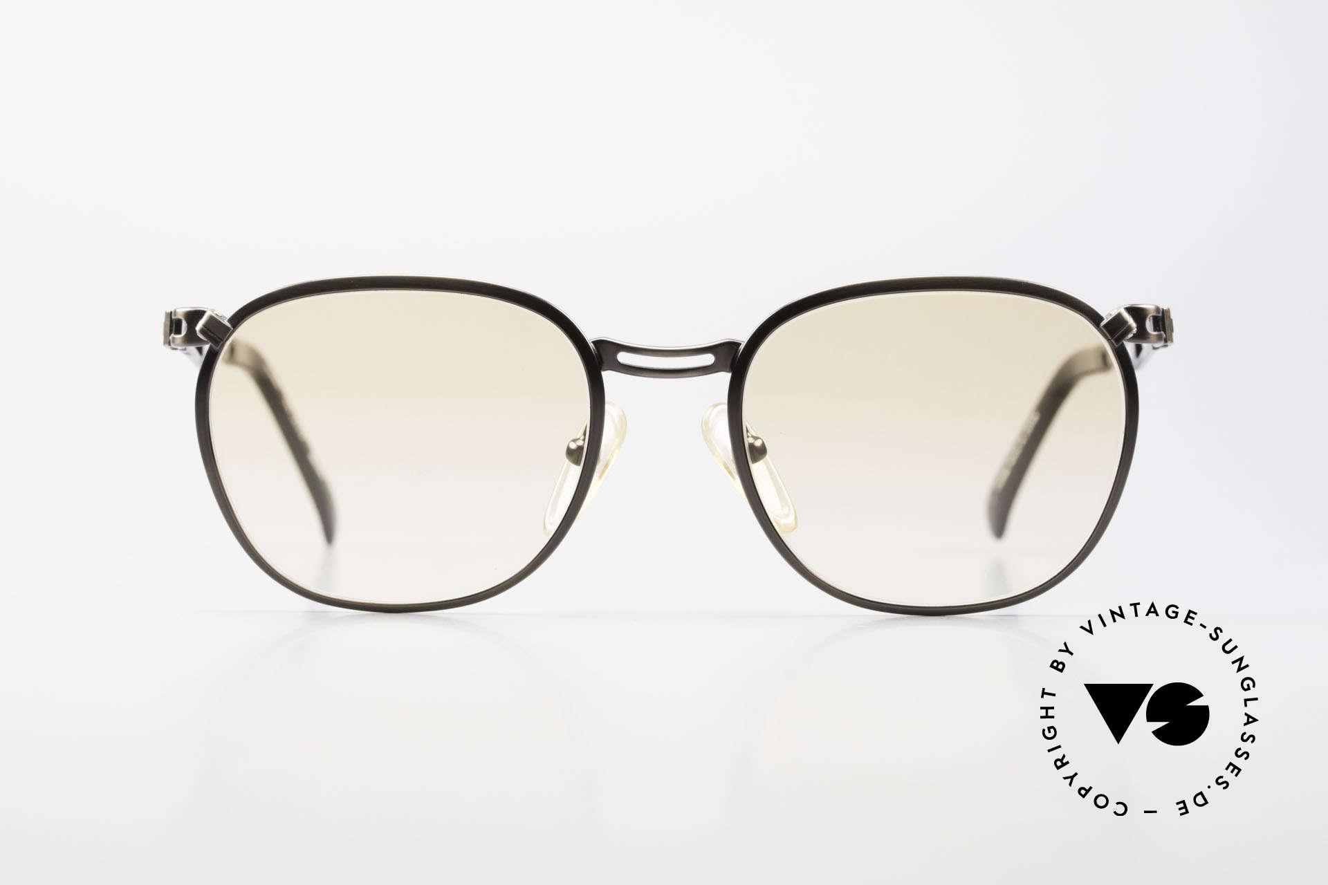 Jean Paul Gaultier 56-2177 Orange Gläser für den Abend, ungewöhnlich schlichtes Design vom Exzentriker JPG, Passend für Herren und Damen