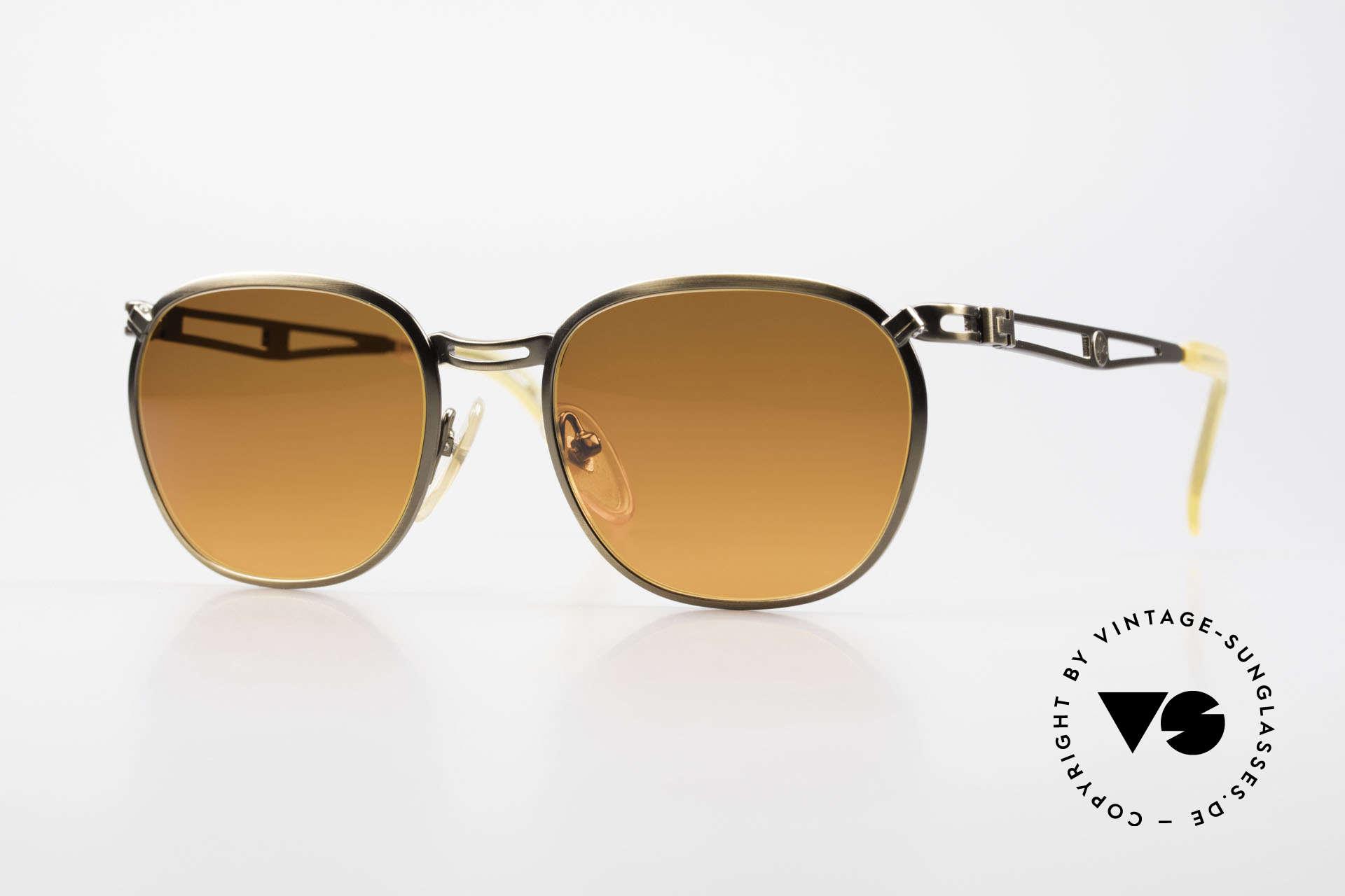 Jean Paul Gaultier 56-2177 Sunset Gläser in Orange Verlauf, 90er Jahre Jean Paul GAULTIER Designersonnenbrille, Passend für Herren und Damen