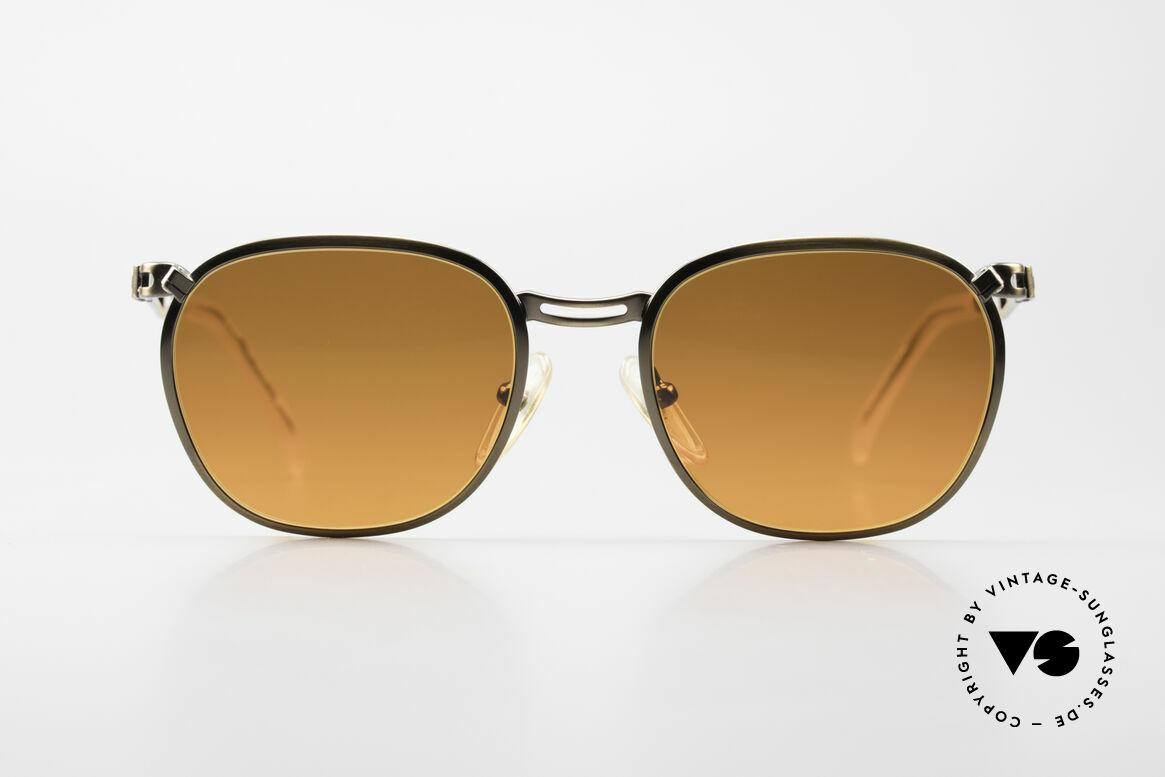 Jean Paul Gaultier 56-2177 Sunset Gläser in Orange Verlauf, ungewöhnlich schlichtes Design vom Exzentriker JPG, Passend für Herren und Damen